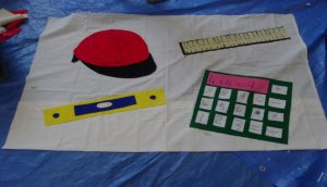 Banner making in progress - Engineering