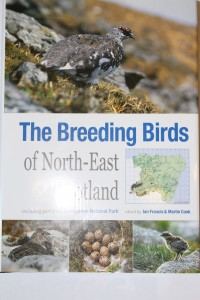 Front cover of book: The Breeding Birds of North-East Scotland Edited by Ian Francis and Martin Cook