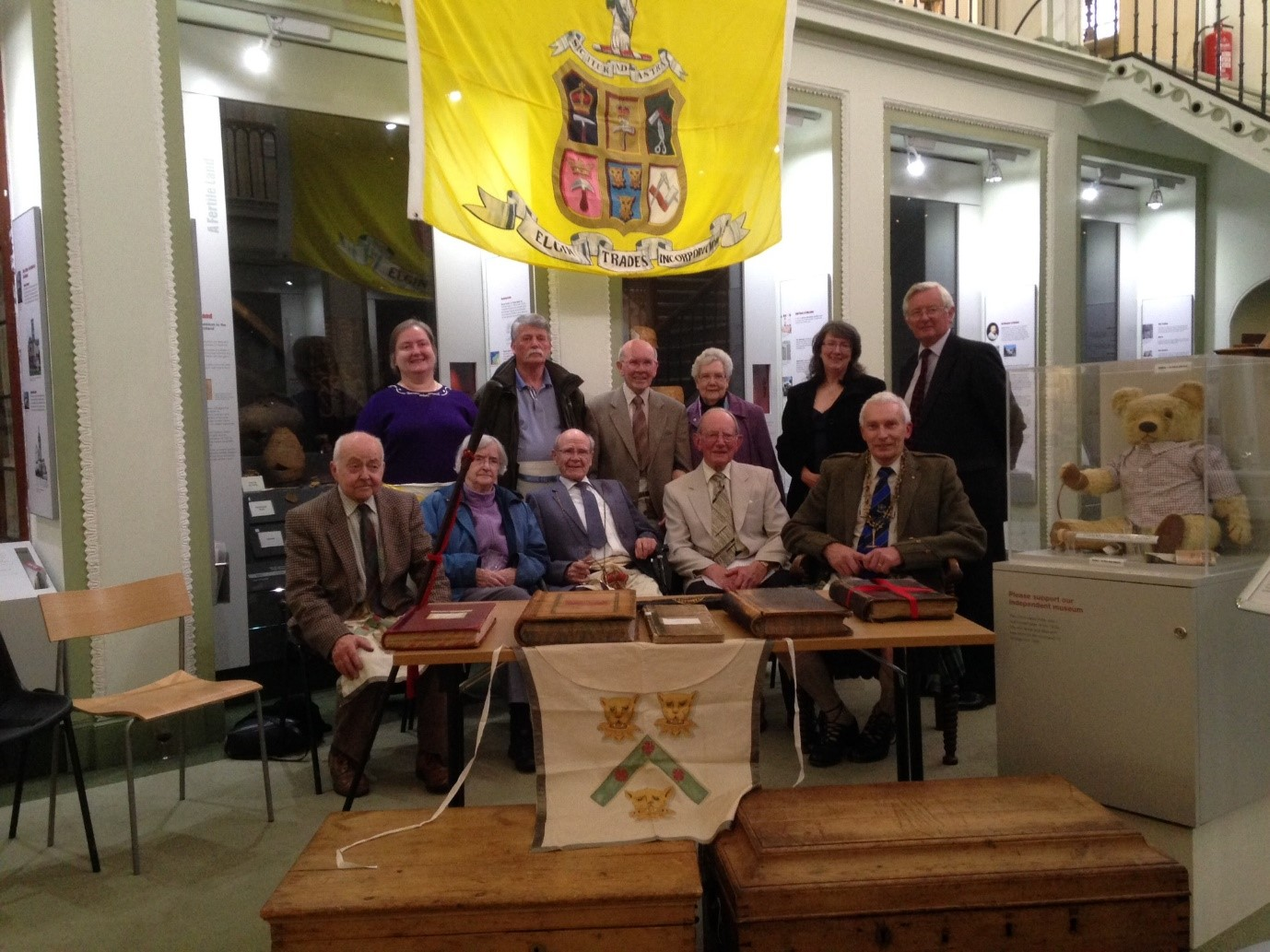 Handover of The Incorporated Trades archive to Elgin Museum in 2014.