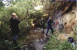 Excavation of the Scaat Craig site in 1992, led by staff from National Museums Scotland