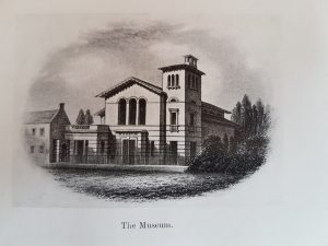 Sketch of Elgin Museum pre-side hall