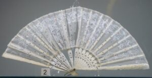 victorian fan on display in elgin museum